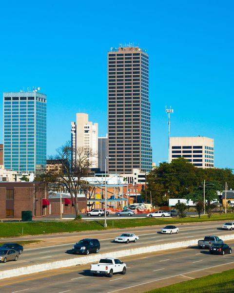 Little Rock skyline and freeway