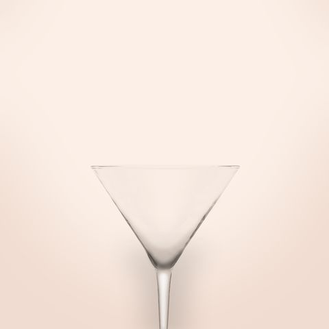illusion of a naked women martini glass concept with pink background