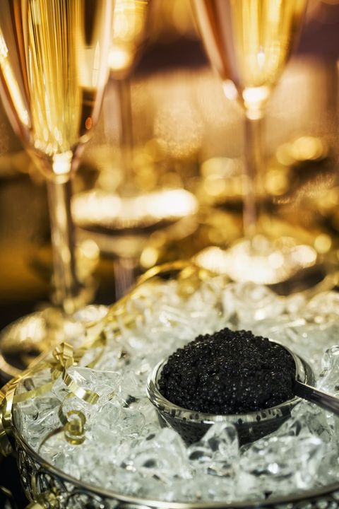 caviar and champagne