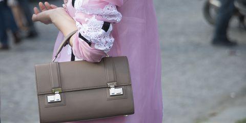 Pink, Street fashion, Fashion, Material property, Fashion accessory, Bag, Style, Handbag,