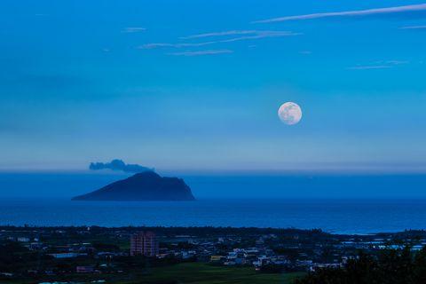 turtle island with moon