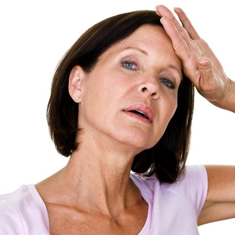 Woman distressed about menopause symptoms