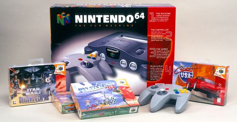 Home game console accessory, Nintendo 64, Gadget, Nintendo 64 accessories, Video game accessory, Technology, Electronic device, Playstation accessory, Game controller, Games,
