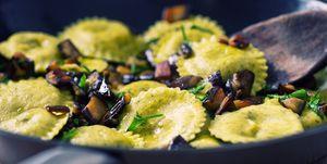 Ravioli with eggplant
