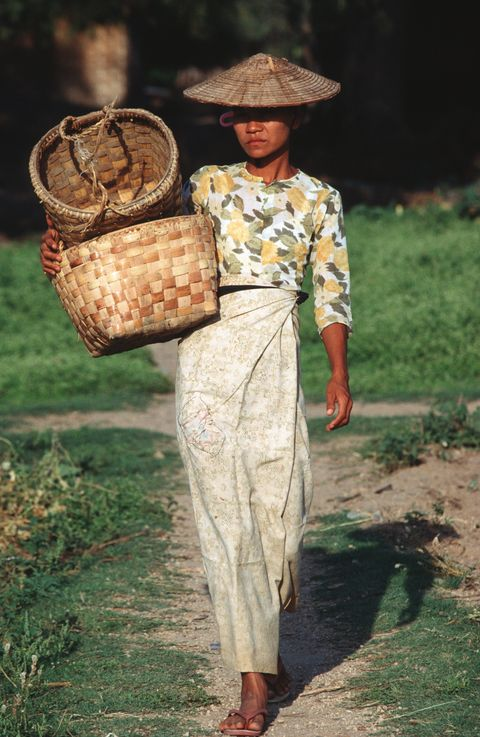 Headgear, Adaptation, Dress, Basket, Wicker,