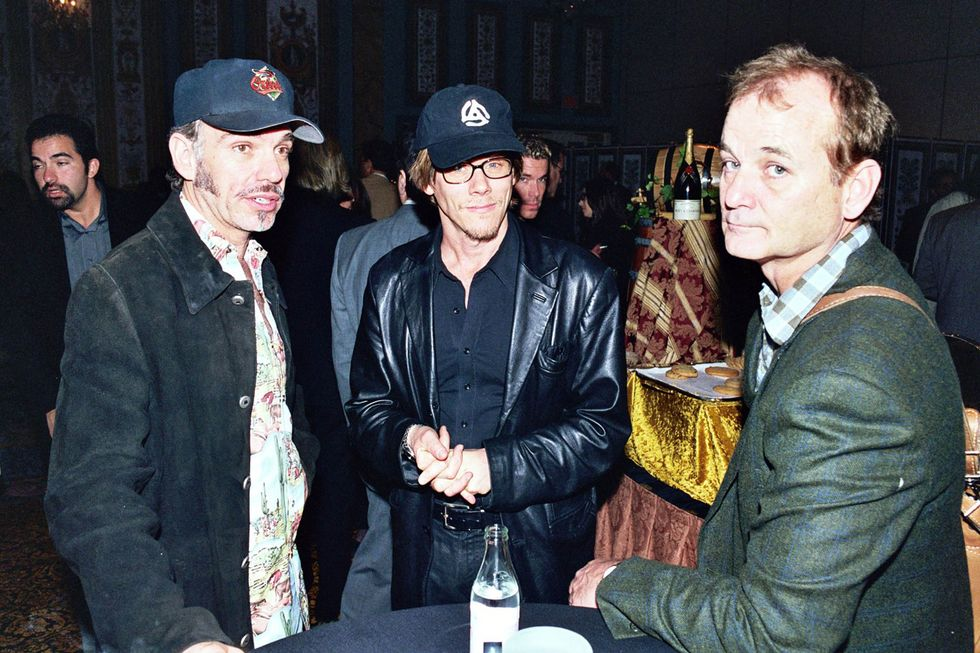 Billy Bob Thornton, Kevin Bacon and Bill Murray during 2000 NATO/Showest Convention at Paris Hotel in Las Vegas, Nevada.