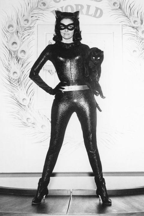 Catwoman, Fictional character, Costume, Supervillain, Latex clothing, Black-and-white, Fetish model, Latex, Art,