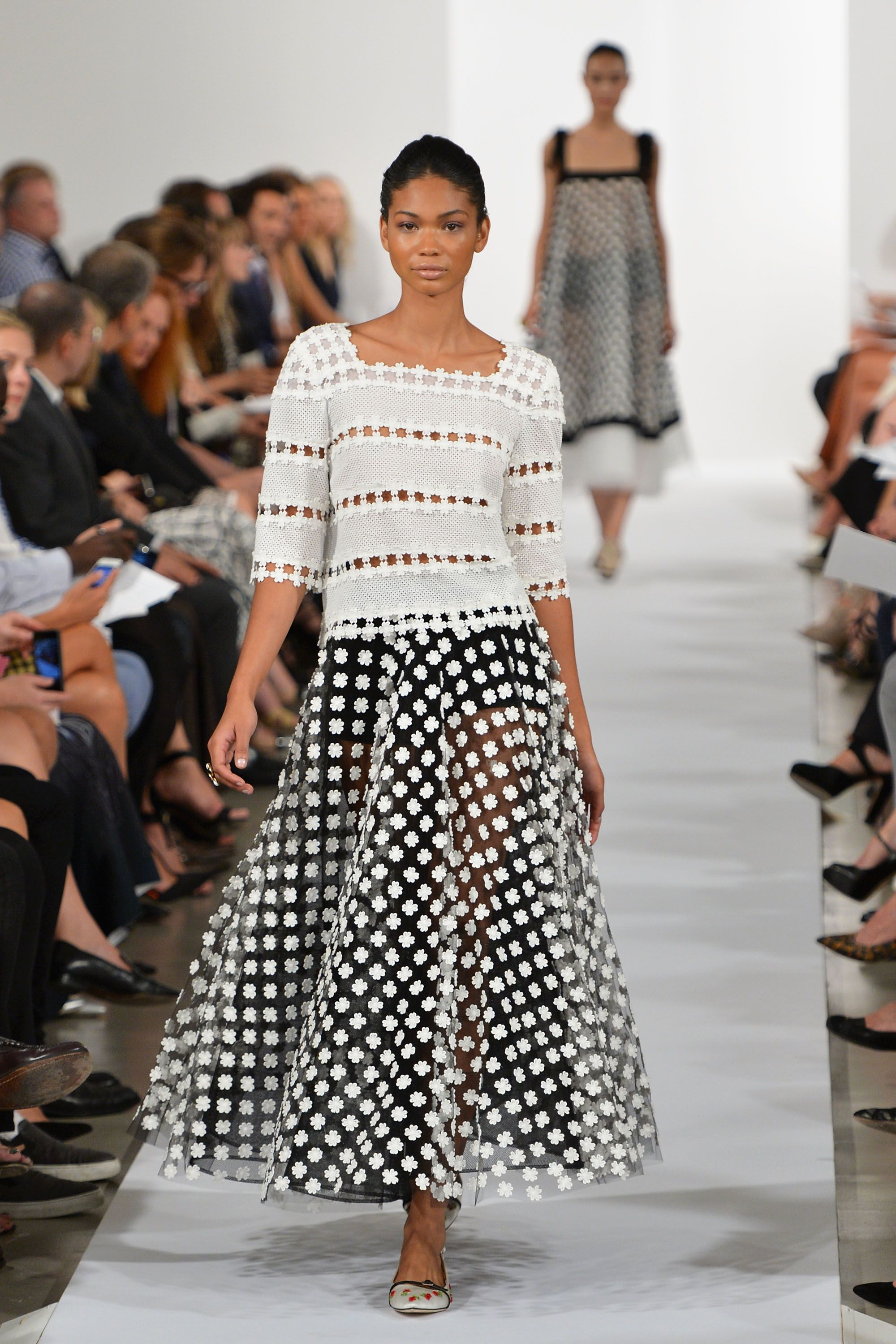 Chanel Iman Iman started modeling at the age of 12 and has had a lucrative career walking the runways of Burberry, Tom Ford, Gucci, Balenciaga, Max Mara, and more. She's appeared in campaigns for the likes of Ralph Lauren and has walked in the Victoria's Secret Fashion show prior to becoming an Angel in 2010.