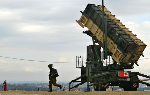 Patriot Missile Launcher at Hafetz Hayim in Israel