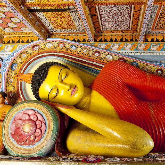 The Buddha of Isurumuniya Temple of Anuradhapura Sri Lanka