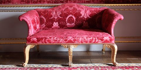 Furniture, Pink, Red, Couch, Chair, Room, Table, Magenta, Interior design, Loveseat,