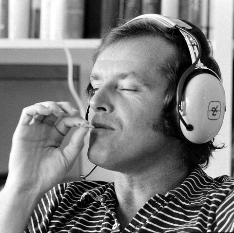 Jack Nicholson Listens To Music