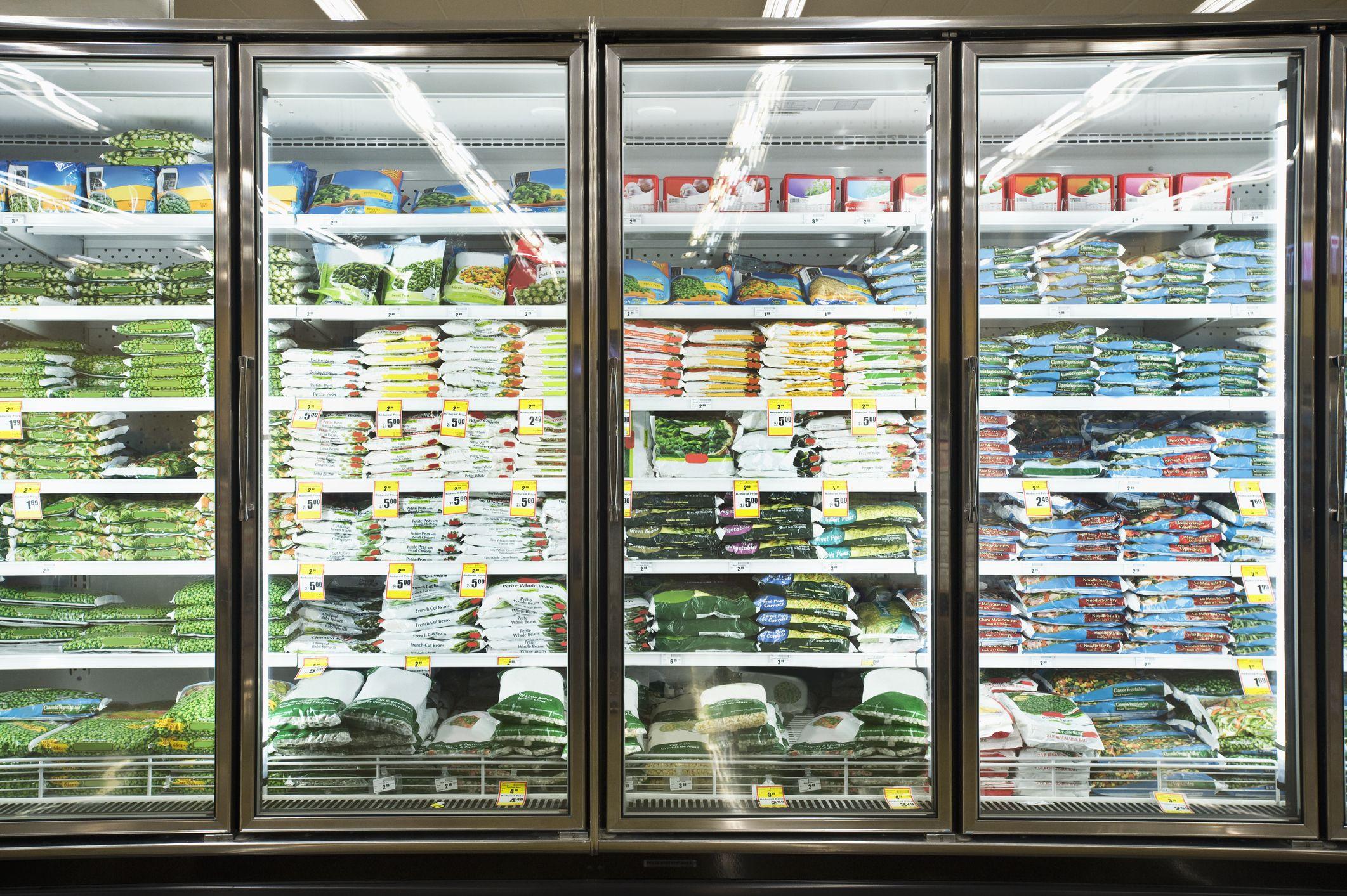 supermarket, freezer aisle