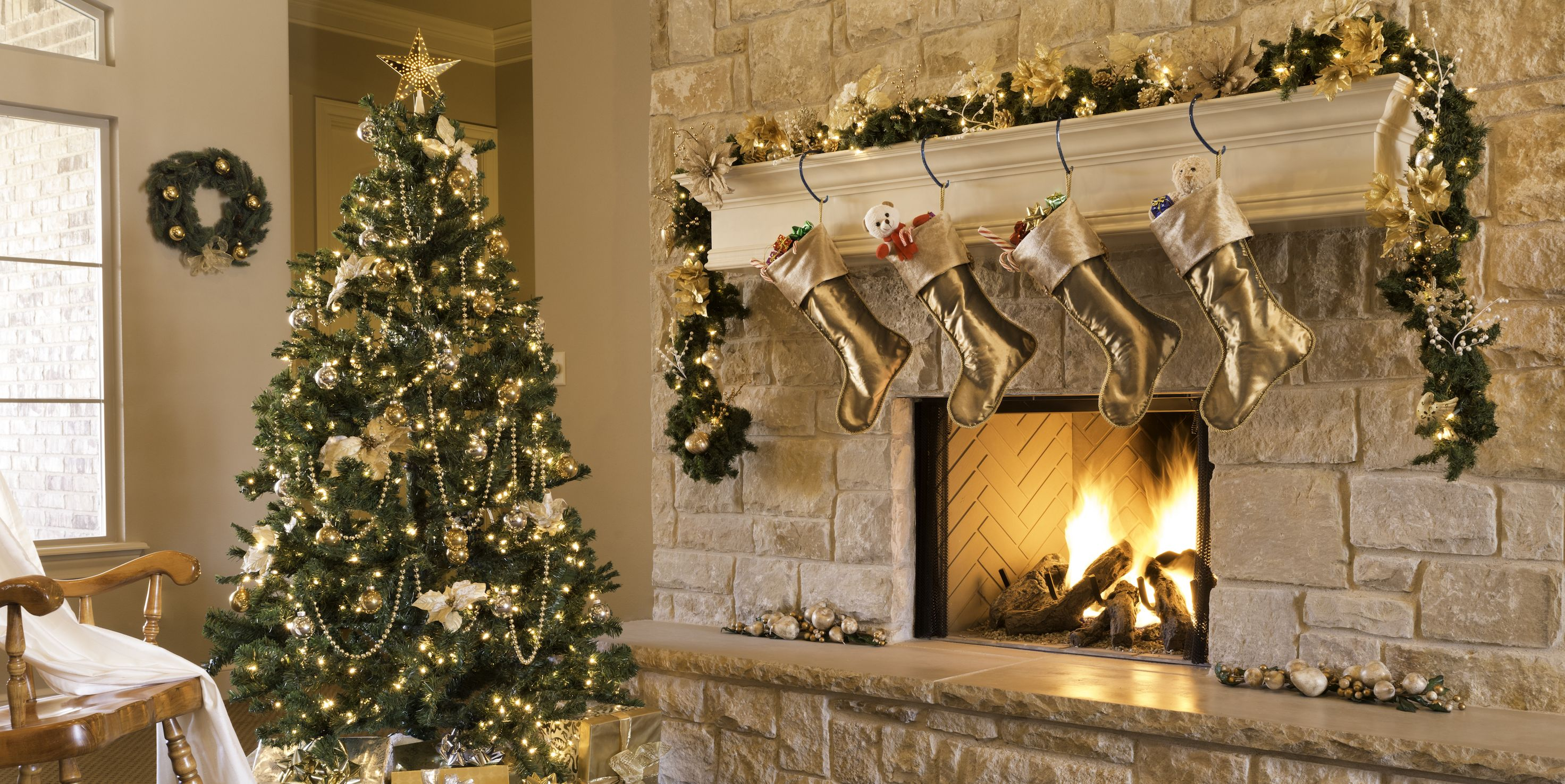 Christmas Decorated Living Rooms