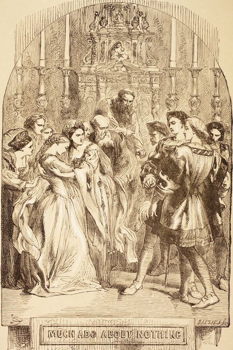 Illustration By Sir John Gilbert For Much Ado About Nothing