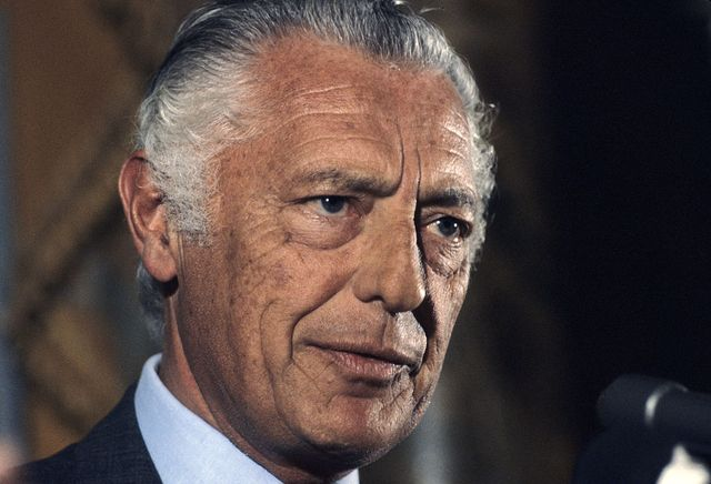 new york   april 4  gianni agnelli posing for a portrait on april 4, 1979 in new york, new york photo by santi visalligetty images