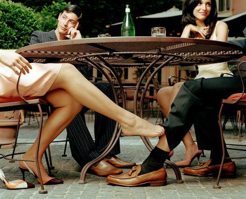Leg, Sitting, Human leg, Footwear, Fashion, Human body, Shoe, Thigh, Black hair, Long hair,
