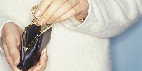 Hand, Footwear, Fashion accessory, Finger, Shoe, Leather, Jewellery, Beige, Metal,