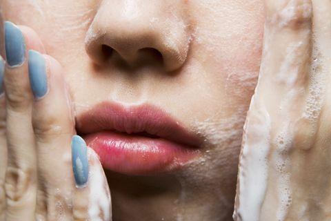 Face, Lip, Skin, Nose, Cheek, Close-up, Head, Chin, Beauty, Mouth,
