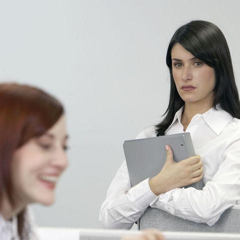 woman looking at woman