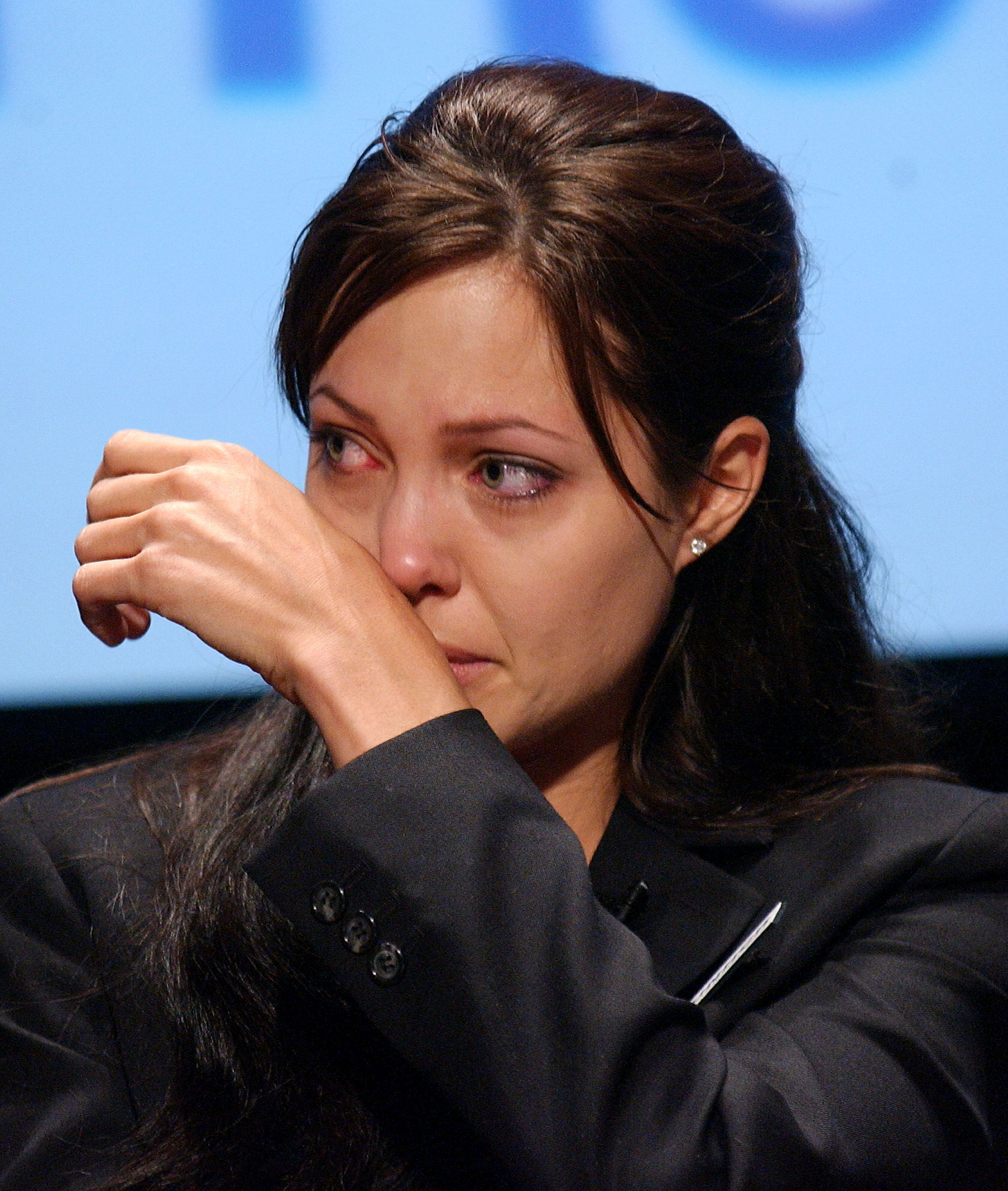 """Here's Angelina Jolie Trying """"Not to Cry"""" As She Drops Maddox Off at College"""