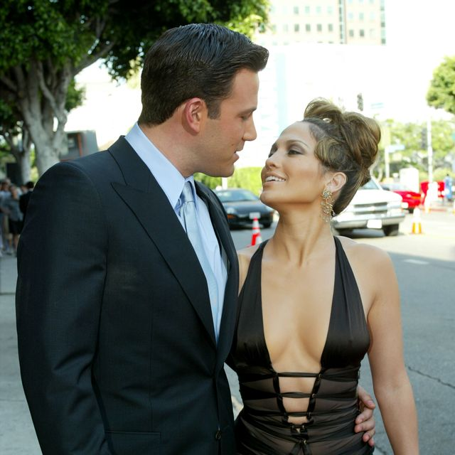westwood, ca   july 27   actress jennifer lopez and actor ben affleck attend the premiere of revolution studios and columbia pictures film gigli at the mann national theatre july 27, 2003 in westwood, california  gigli opens nationwide on august 1, 2003  photo by kevin wintergetty images