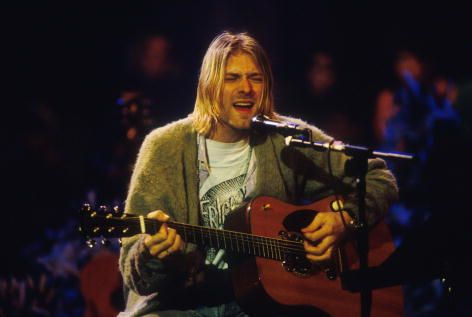 "Kurt Cobain during the taping of ""MTV Unplugged"" at Sony Studios in New York City in 1993."