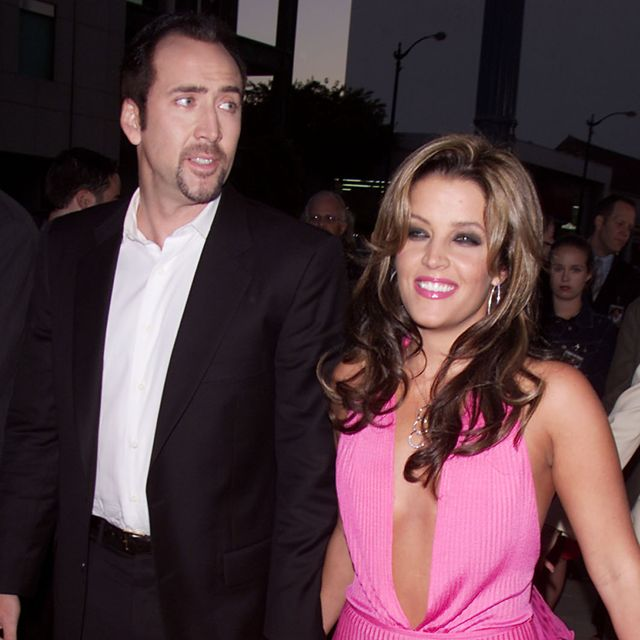 nicolas cage and lisa marie presley at the premiere of captain corellis mandolin at the motion picture academy theater in beverly hills, ca 81301 photo by kevin wintergetty images