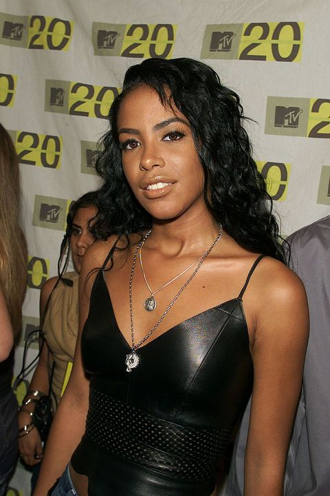 aaliyah arriving at the mtv 20th anniversary party, mtv20 live and almost legal at hammerstein ballroom in new york city on 8101 photo by evan agostiniimagedirect