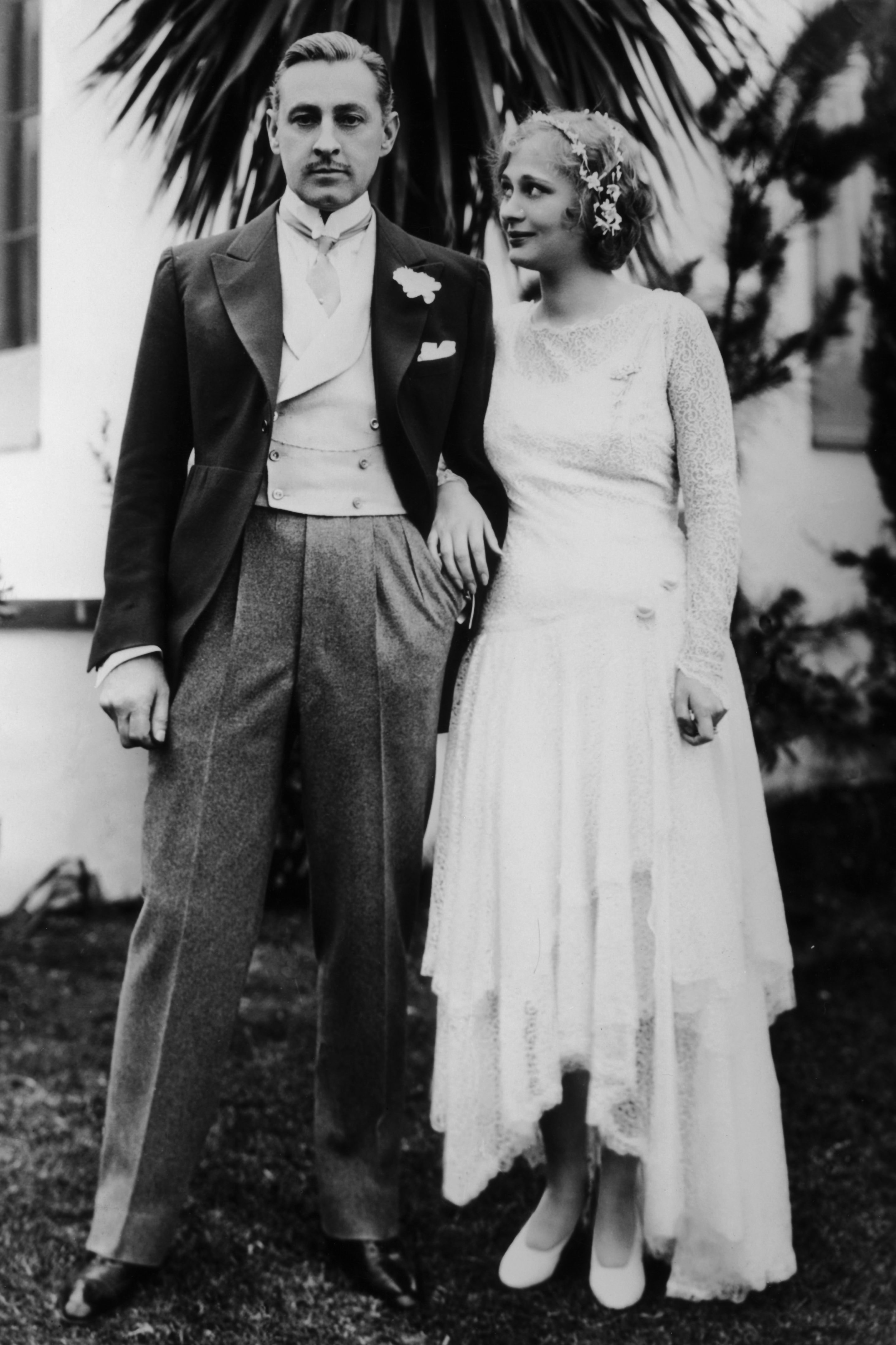 Dolores Costello's Wedding Dress Drew Barrymore comes from a long line of Hollywood stars and this is her grandfather, acclaimed actor John Barrymore, with her grandmother, his third wife Dolores Costello, in 1928. Some of Barrymore's most well-known films include Grand Hotel (1932), Twentieth Century (1934) and Midnight (1939), which have been inducted into the National Film Registry .