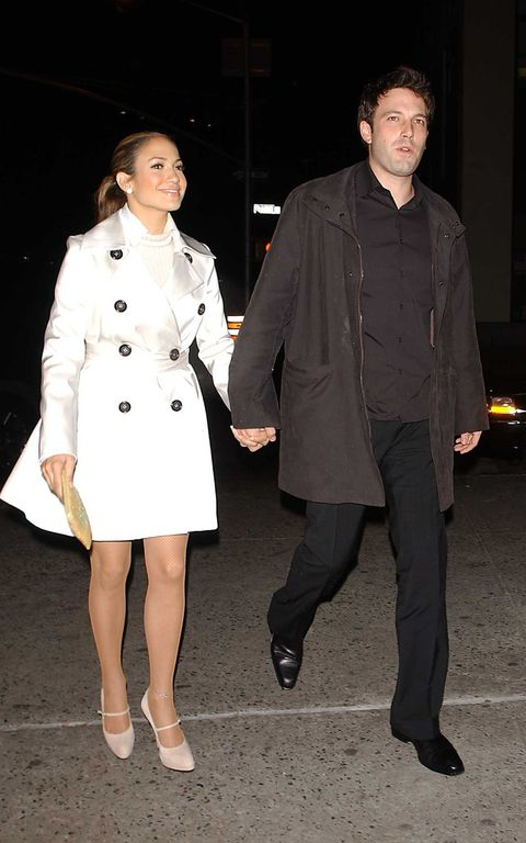 new york   october 28  italy out ben affleck and jennifer lopez leave a soho restaurant october 28, 2003 in new york city  photo by arnaldo magnanigetty images