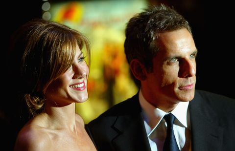london   february 18  actress jennifer aniston and actor ben stiller arrive at the uk premiere of along came polly at the empire leicester square on february 18, 2004 in london photo by bruno vincentgetty images