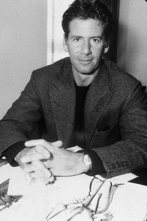 Fashion Designer Calvin Klein At Desk