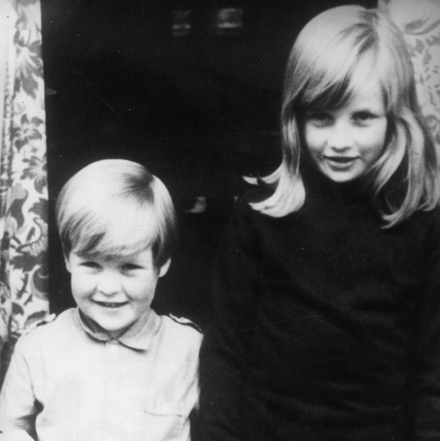 1968  lady diana spencer 1961   1997 diana princess of wales with her brother charles, viscount althorp, earl spencer at their home in berkshire  photo by central pressgetty images