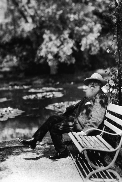Claude Monet Sitting On Park Bench