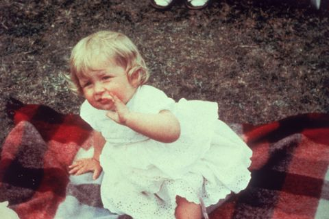 Lady Diana Spencer, pictured on her first birthday.