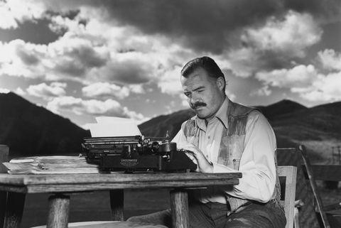 Ernest Hemingway writing