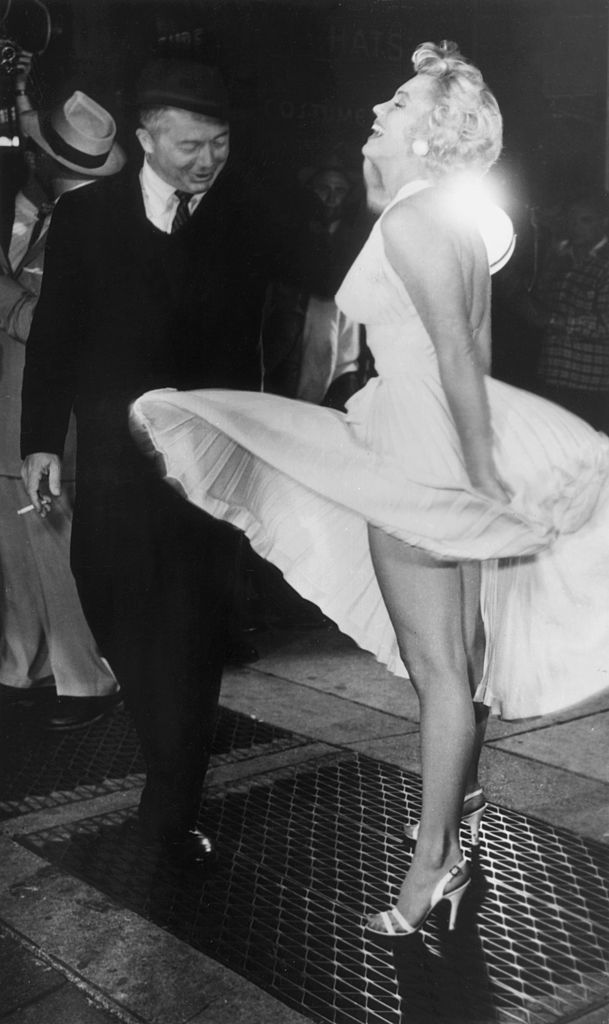 Billy Wilder and Marilyn Monroe on the set of The Seven Year Itch , 1955