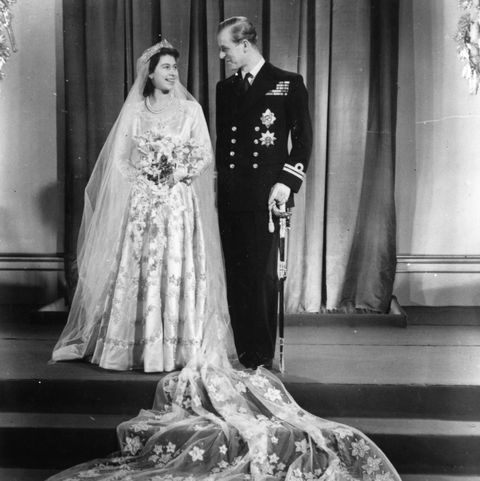 princess elizabeth with philip mountbatten on their wedding day, 20th november 1947  photo by topical press agencyhulton archivegetty images