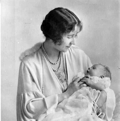 may 1926  elizabeth, duchess of york 1900   2002 holding her baby, the future queen elizabeth ii  photo by speaighthulton archivegetty images