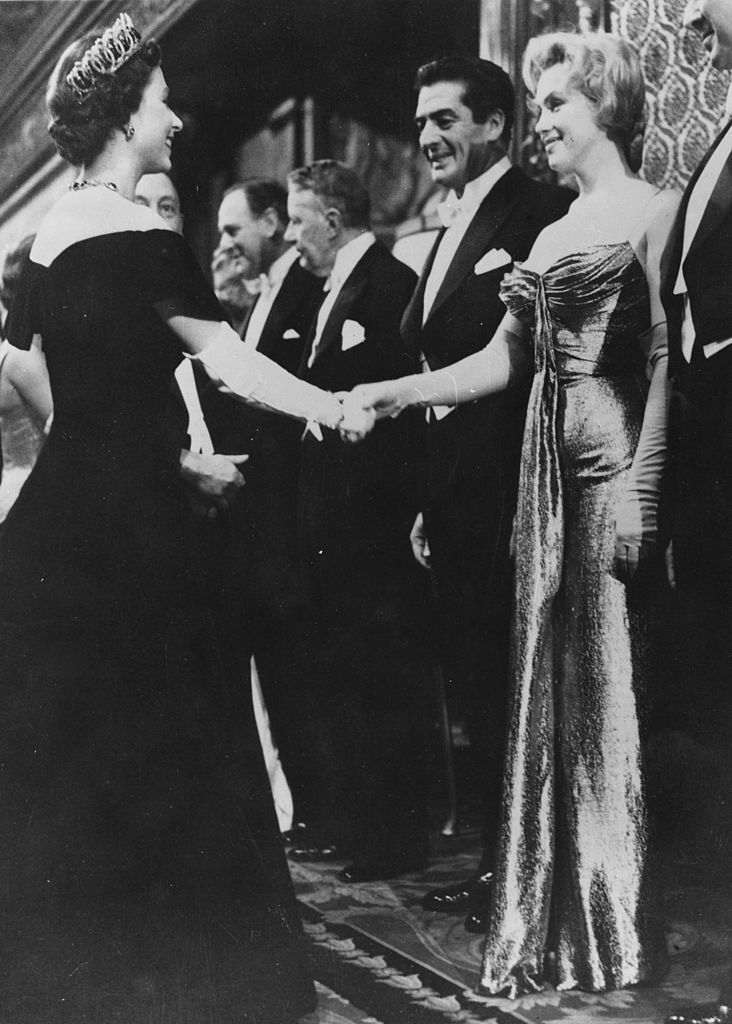 marilyn monroe meeting queen elizabeth