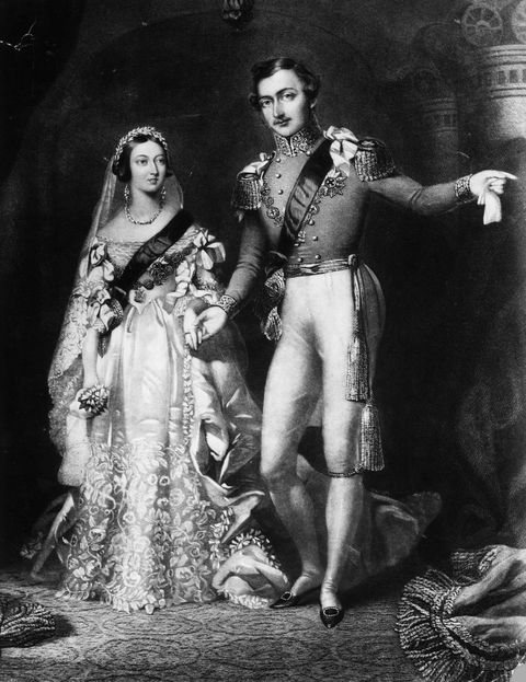 10th february 1840  queen victoria 1819   1901 and prince albert 1819   1861 on their return from the marriage service at st jamess palace, london original artwork engraved by s reynolds after f lock  photo by rischgitzgetty images
