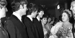 queen mother meeting the beatles