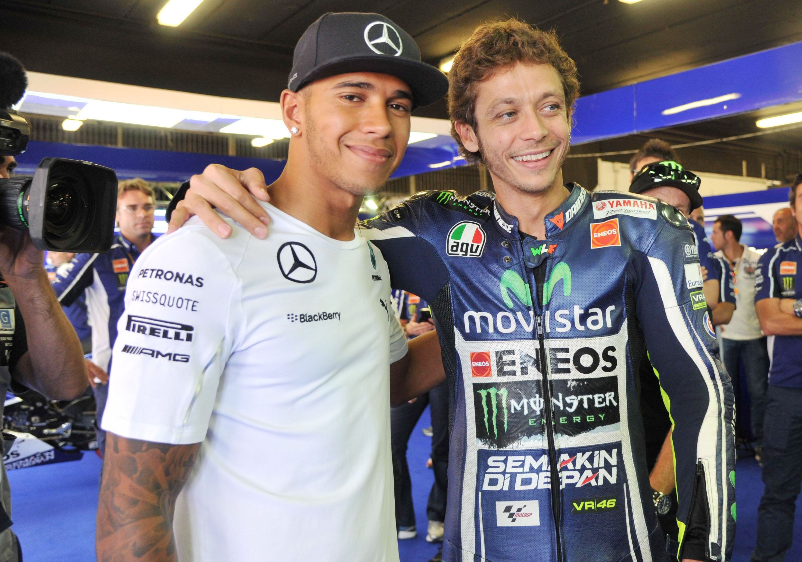 Lewis Hamilton and Valentino Rossi Are Reportedly Trading Seats for a Day