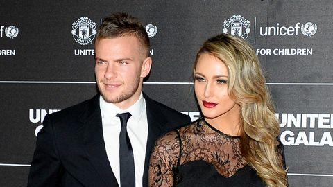 tom cleverley and georgina cleverley on the red carpet ahead of a gala dinner