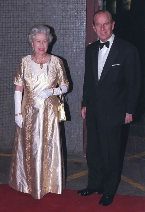 london, united kingdom     november 11  queen elizabeth ii, and prince philip, the duke of edinburgh attend a gala concert at the royal festival hall,  to celebrate their golden wedding anniversary on november 11  1997  in london, united kingdom  photo by uk press via getty images