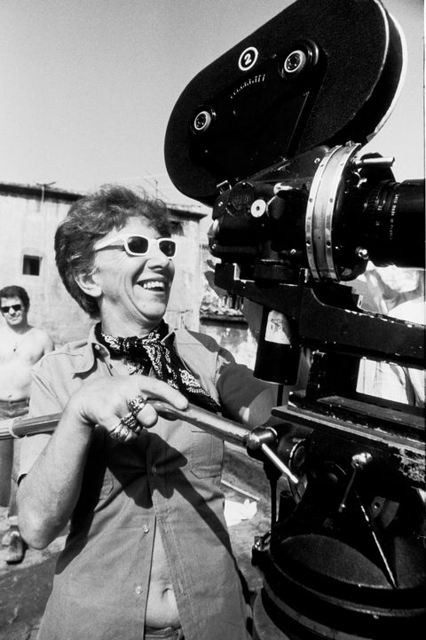 Movie Director Lina Wertmuller On The Set Of Pasqualino