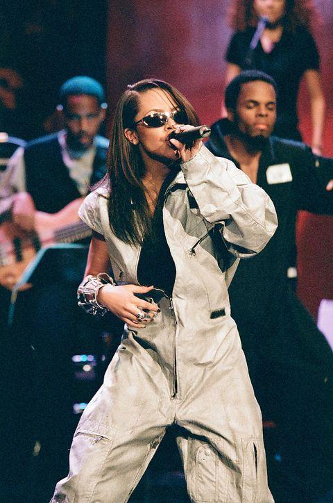 aaliyah optreden jay leno 1997