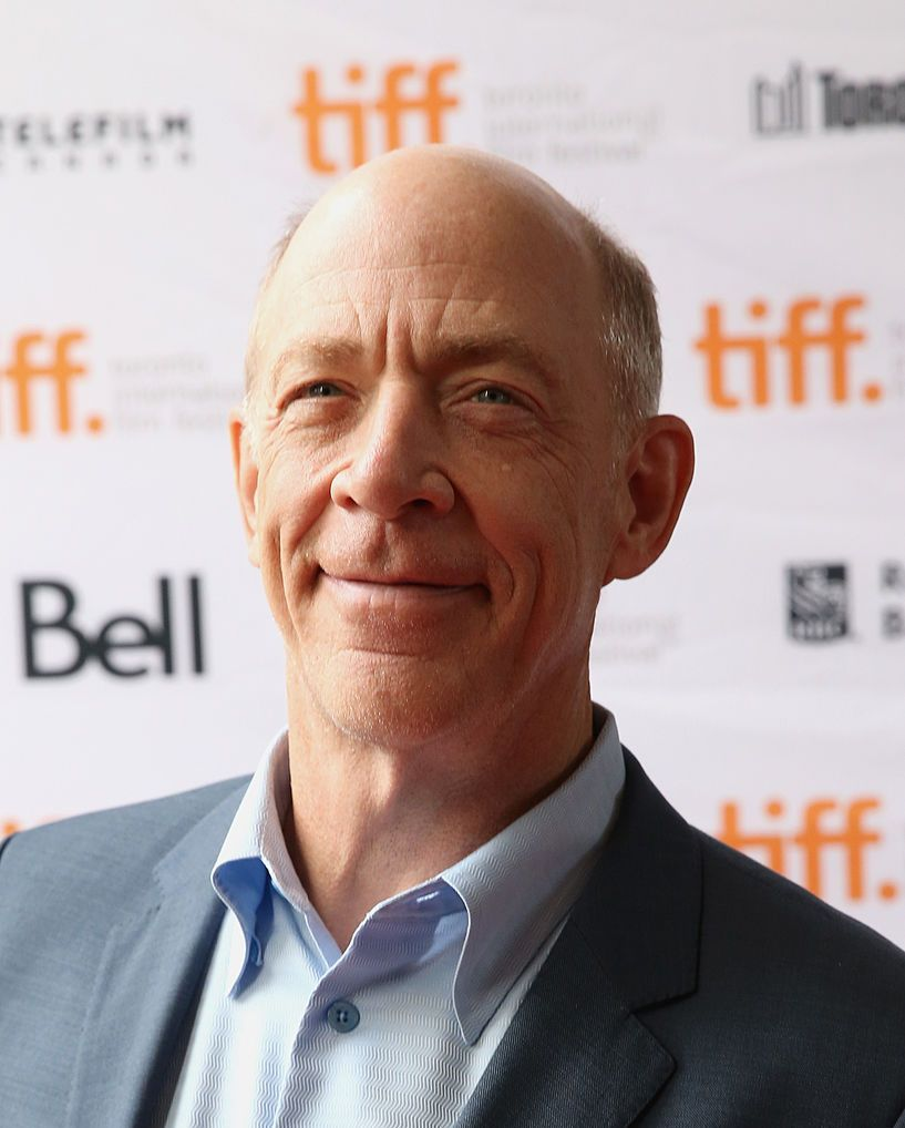 J.K. Simmons (head mostly bare) We don't care if you're rushing or dragging, but if you don't think Simmons owns the bald look, you can get the hell out of this band.