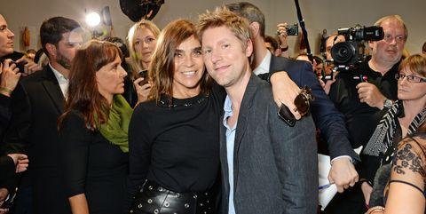 Christopher Bailey and Carine Roitfeld